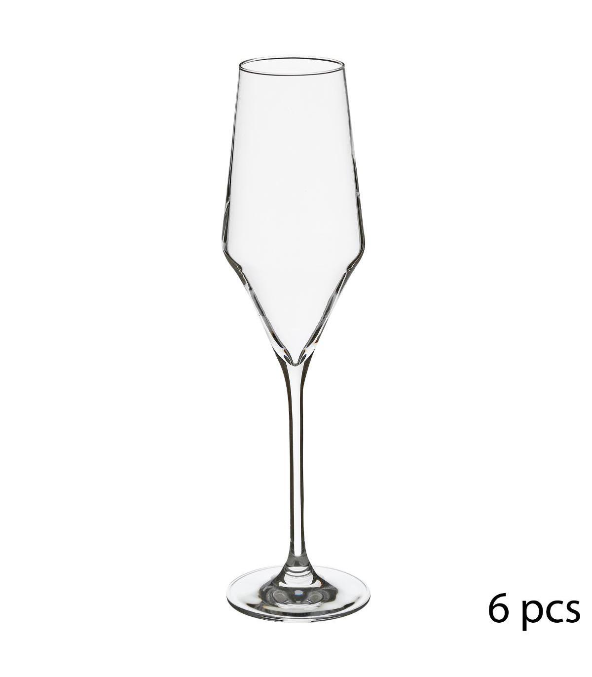 Flûte à champagne en Cristallin X6 CLARILLO 22CL
