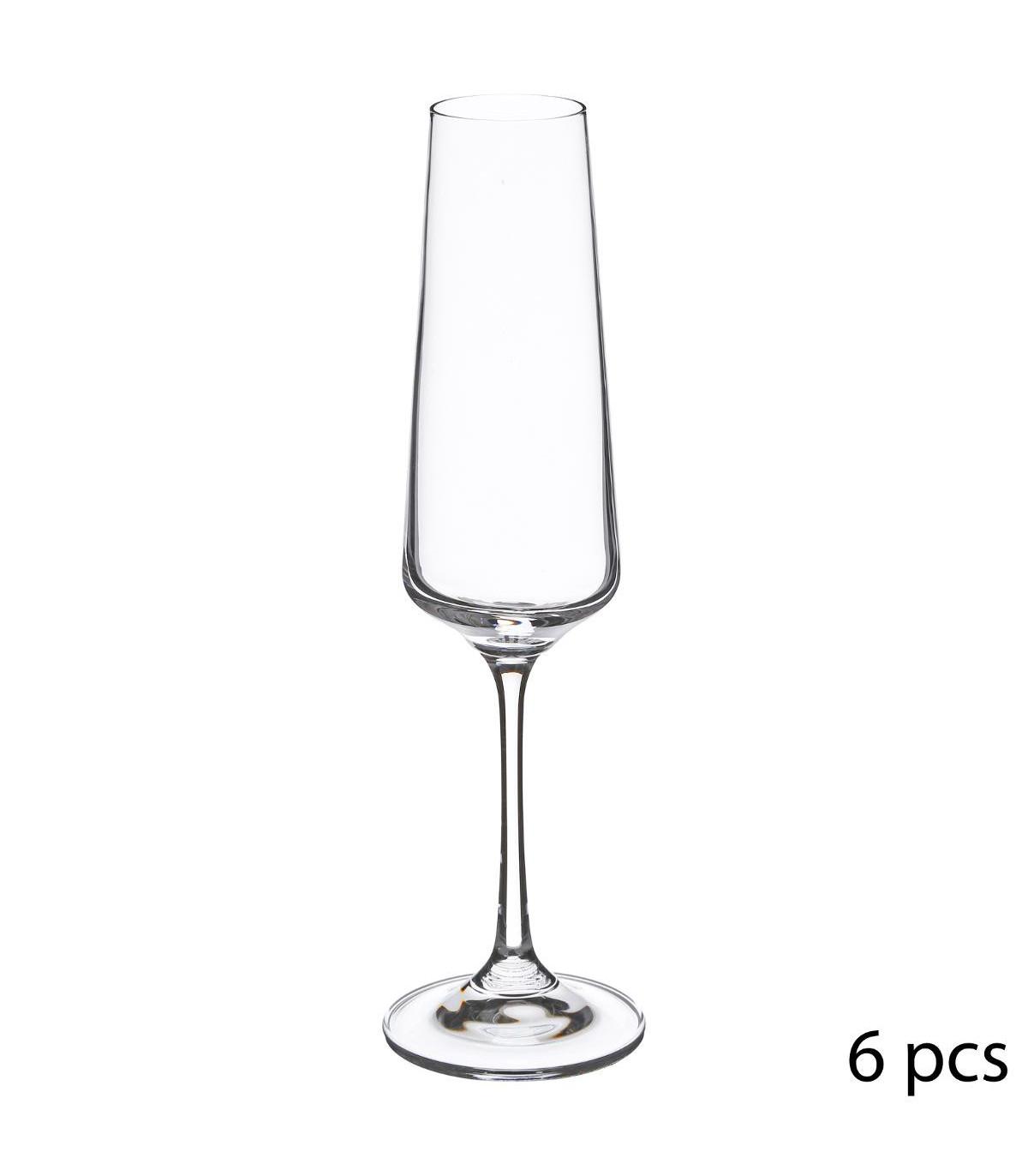 Flûte à champagne en Cristallin X6 SELENGA 16CL