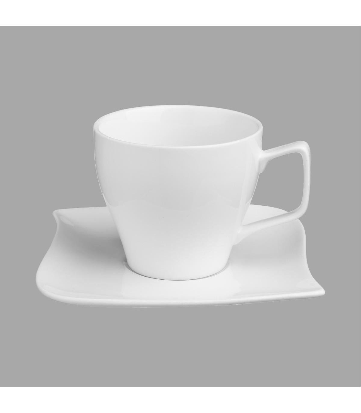 TASSE À CAFÉ VAGUE AVEC SOUS-TASSE 9CL