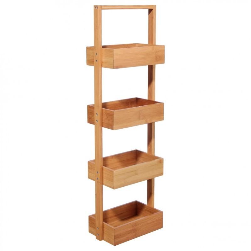 Etagère 4 niveaux en bambou