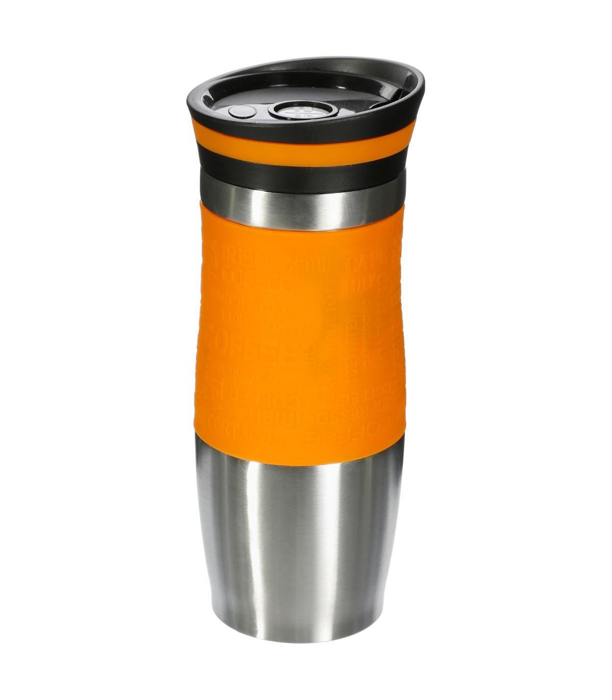 Mug isolant double paroi JAUNE 35CL