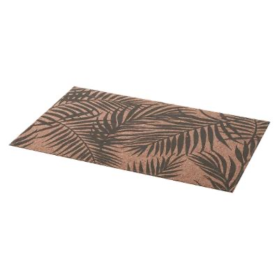 SET TABLE PALME GRIS 45X30