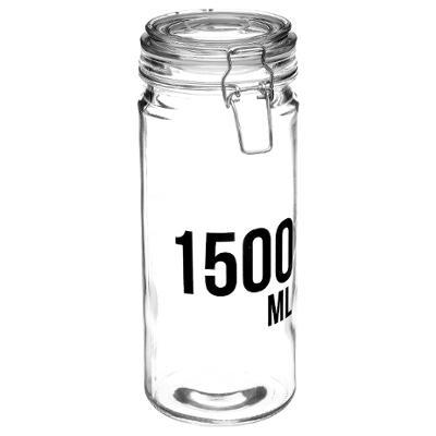 BOCAL VERRE AVEC JOINT HERMETIQUE CAPACITE 1500ML