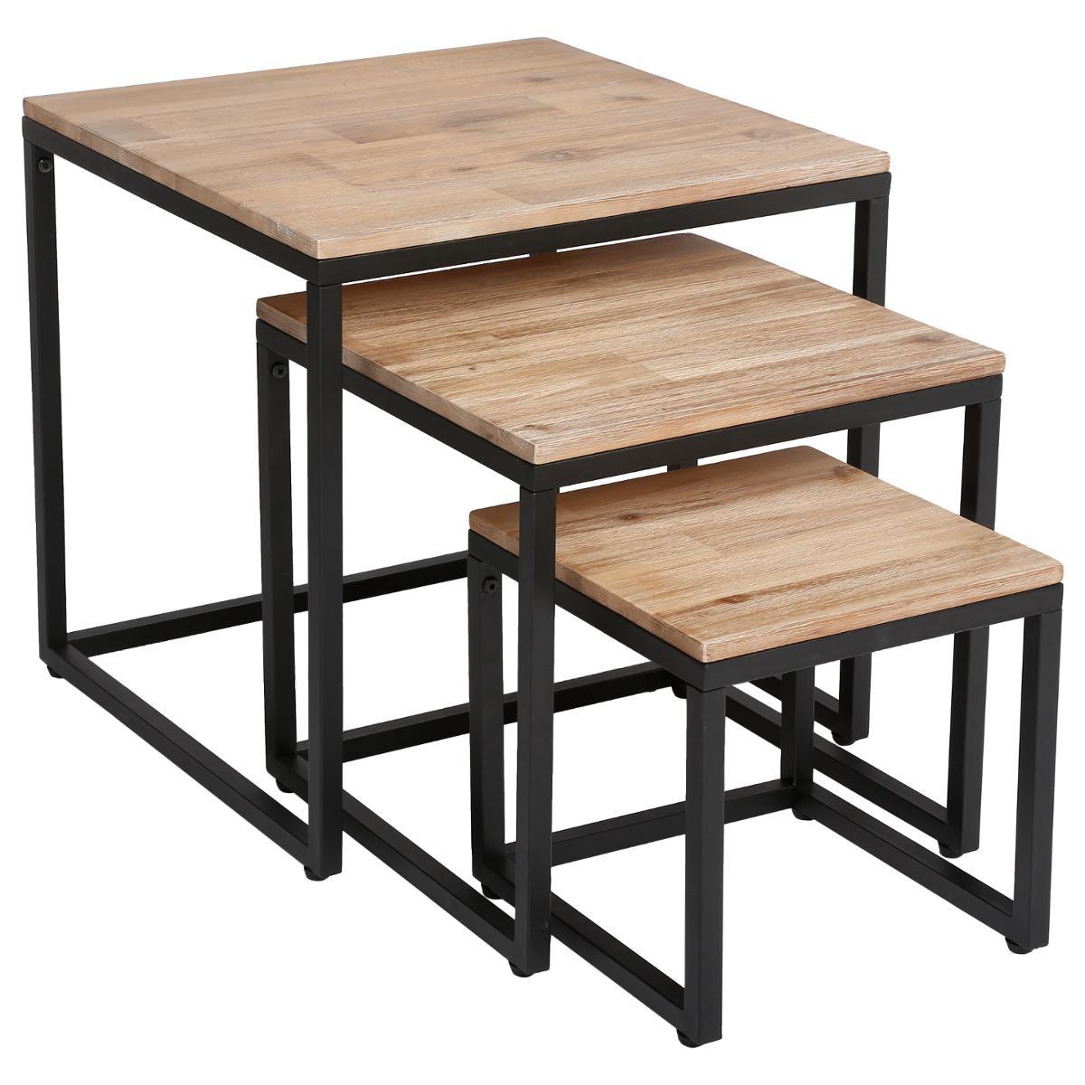 LOT DE 3 TABLES BASSE EDENA