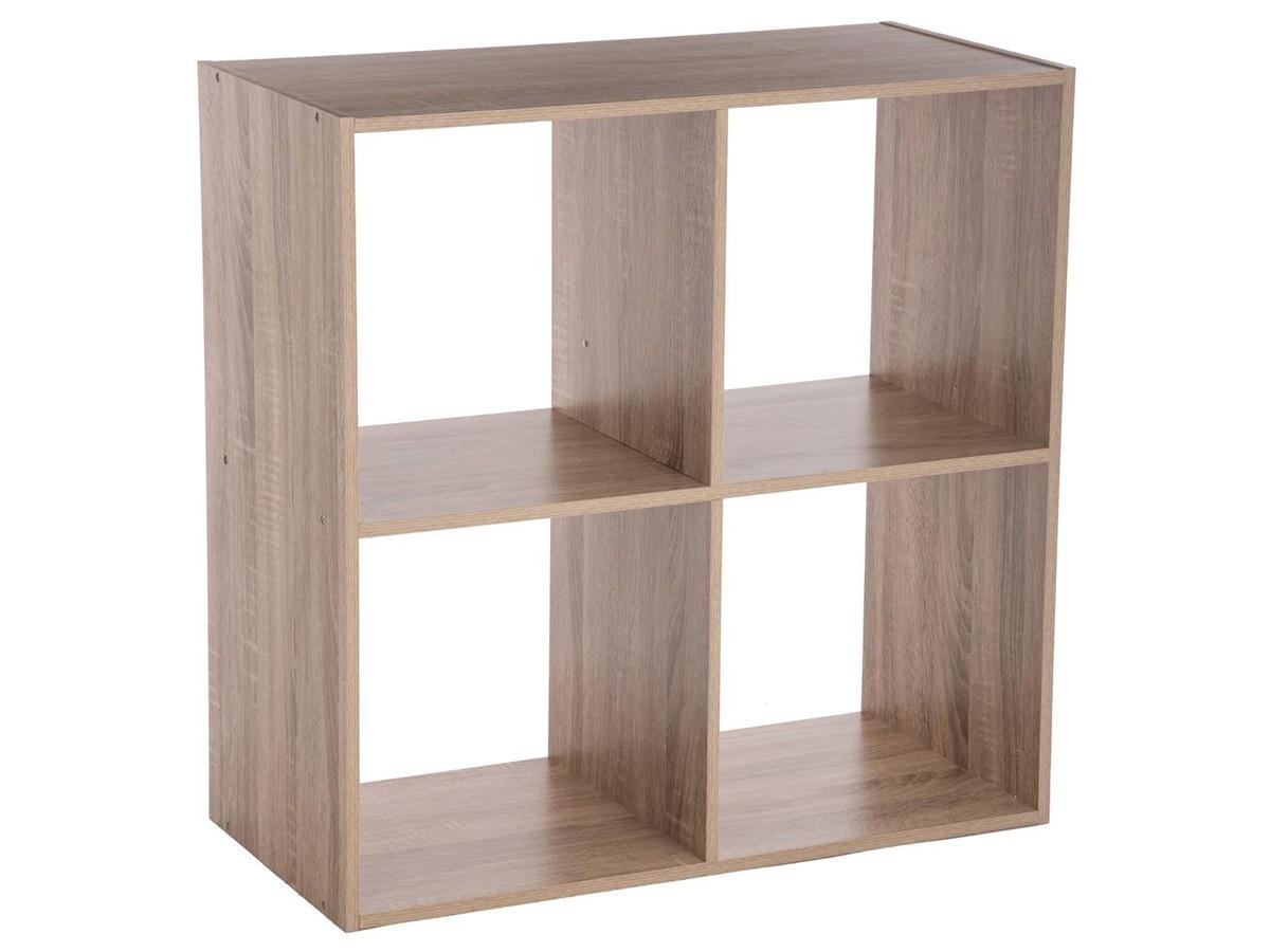 Étagère en bois 4 cases MIX\'n MODUL NATUREL