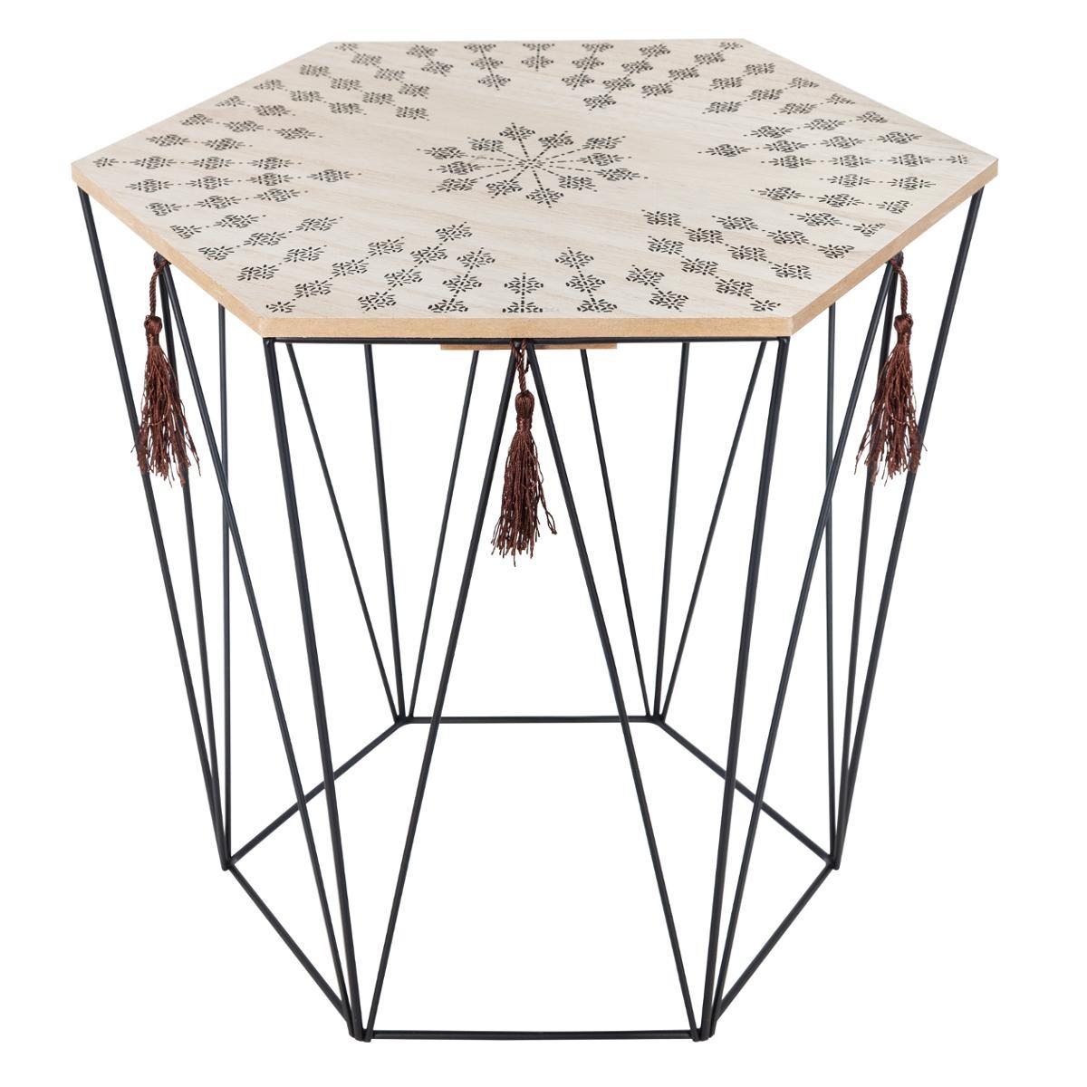 TABLE À CAFÉ KUMI OCTOGONALE ETNIK