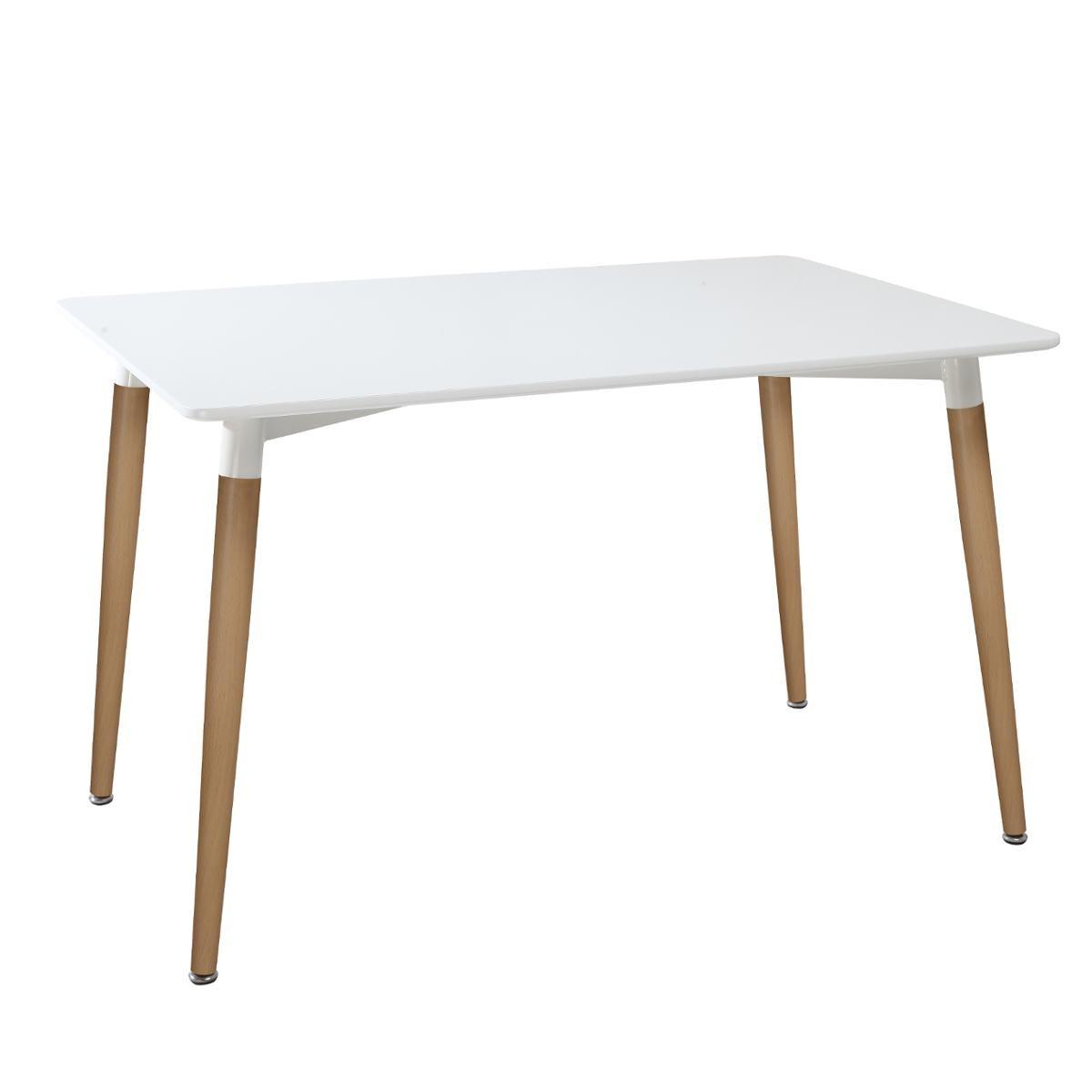 TABLE À DÎNER PIEDS EN BOIS DE HÊTRE ROKA