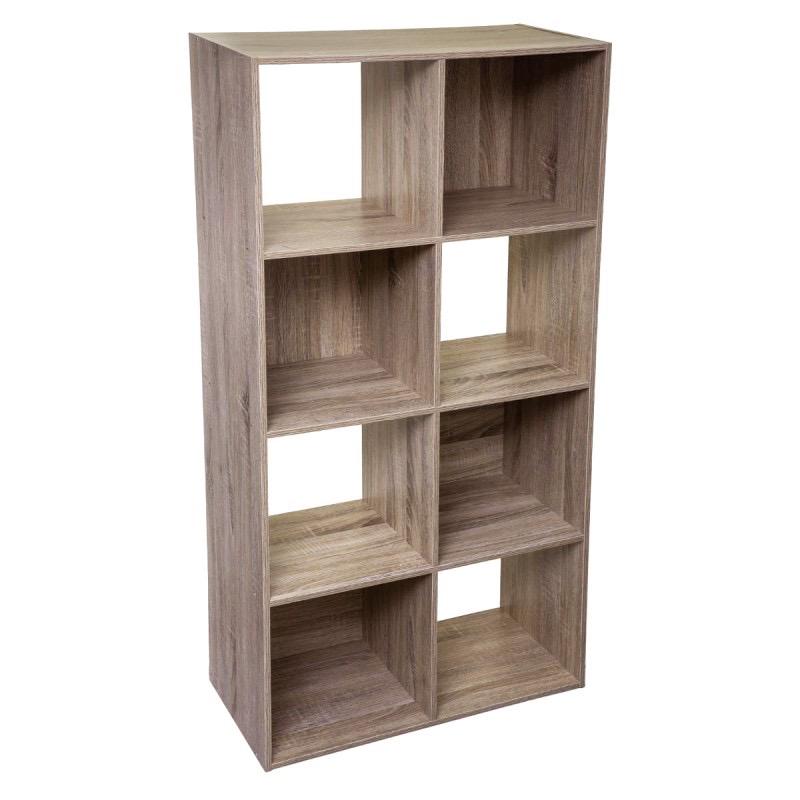 Étagère en bois 8 cases MIX\'n MODUL NATUREL
