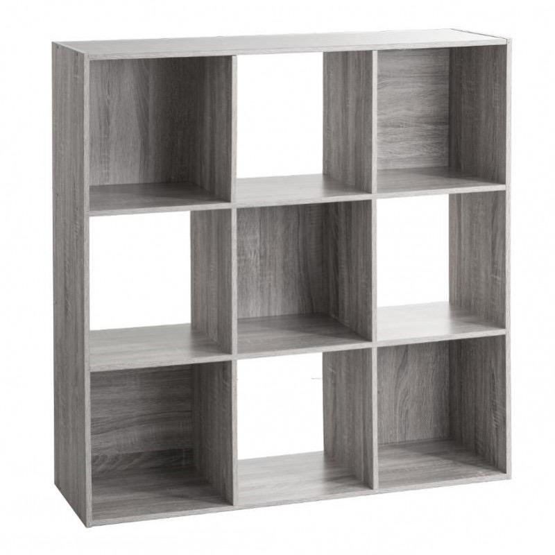Étagère en bois 9 cases MIX\'n MODUL GRIS
