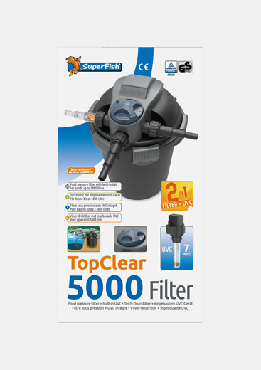 SuperFish Filtre TopClear 5000 + UVC 7W