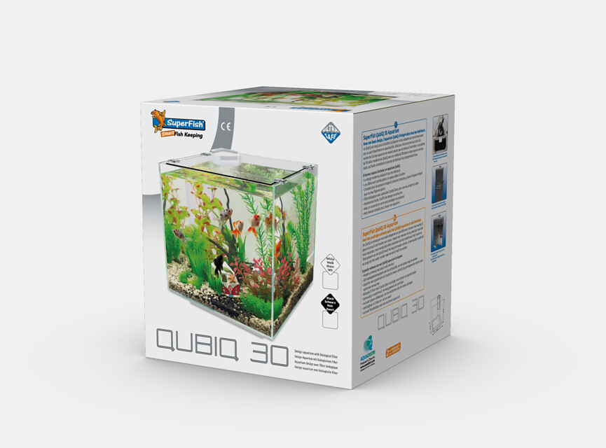 SuperFish Aquarium QUBIQ 30 - Blanc