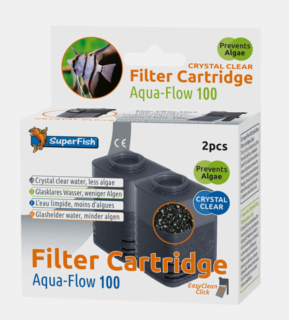 SuperFish Cartouche de filtration Crystal Clear Aqua-Flow 100 2 pcs.