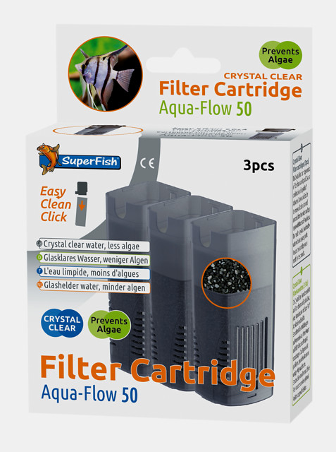SuperFish Cartouche de filtration Crystal Clear Aqua-Flow 50 3 pcs.