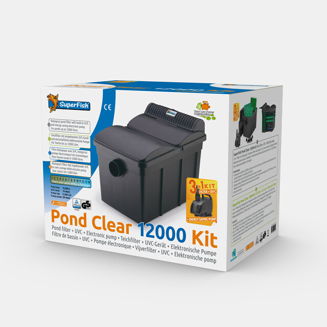 SuperFish Kit de filtration TopClear 12000 + UVC 13W + Pompe 5000l/h