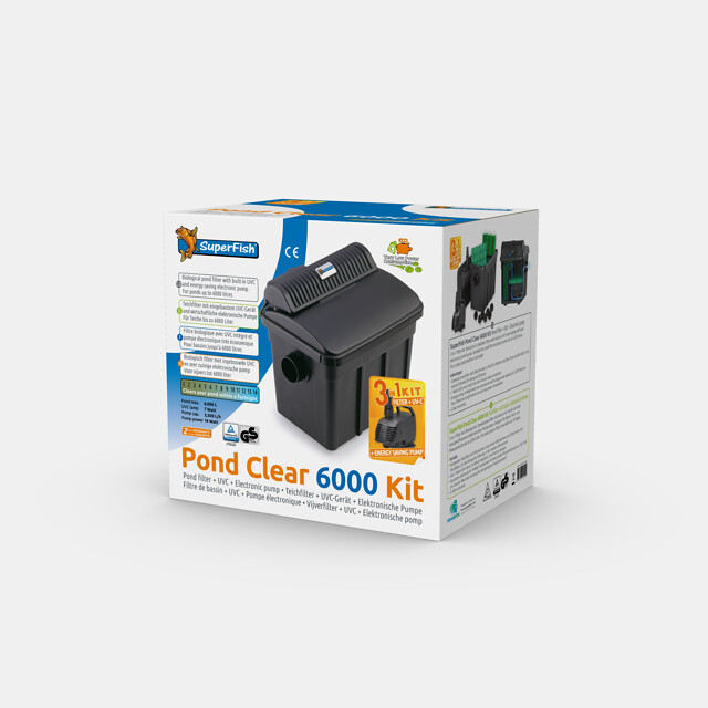 SuperFish Kit de filtration Pond Clear 6000 + UVC 7W + Pompe 2000l/h