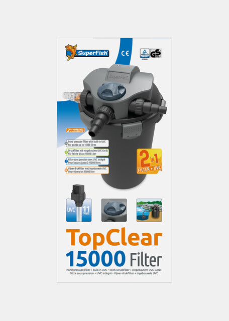 SuperFish Filtre TopClear 15000 + UVC 11W