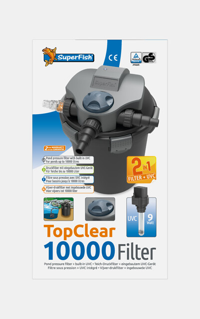 SuperFish Filtre TopClear 10000 + UVC 9W