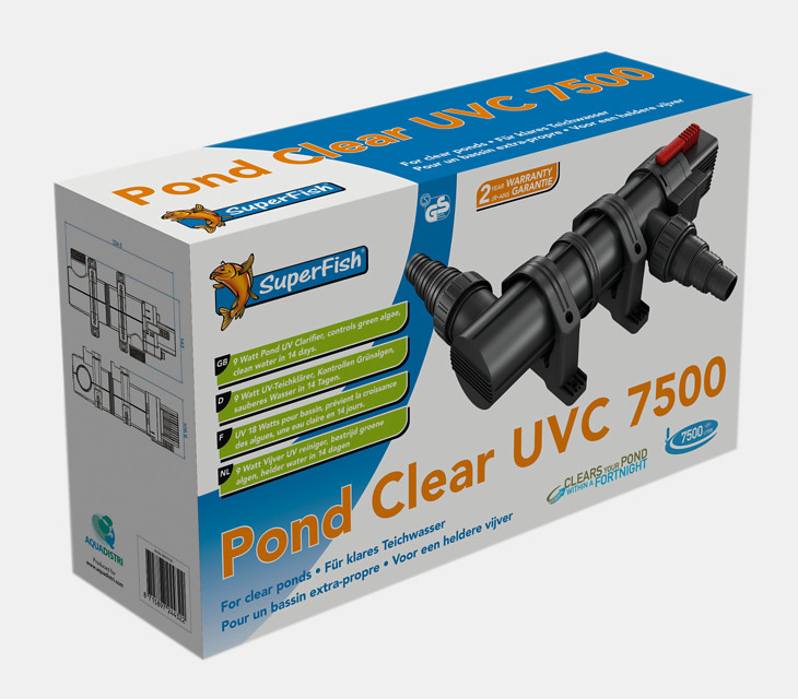 Superfish Stérilisateur UVC Pond Clear 7500L 9W