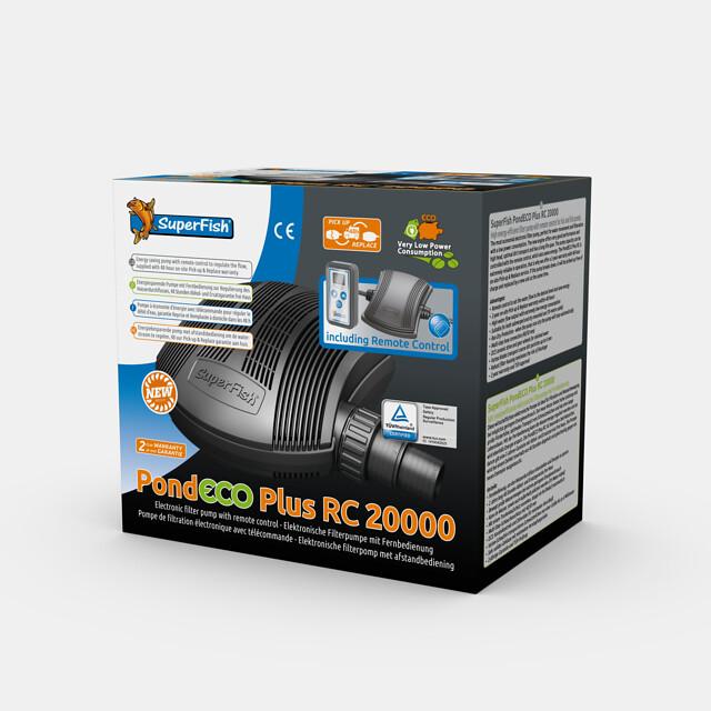 SuperFish Pompe + télécommande PondECO Plus RC 20000