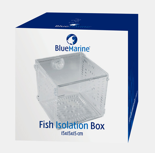 BLUE MARINE FISH ISOLATION BOX  15 X 15 X 15 CM