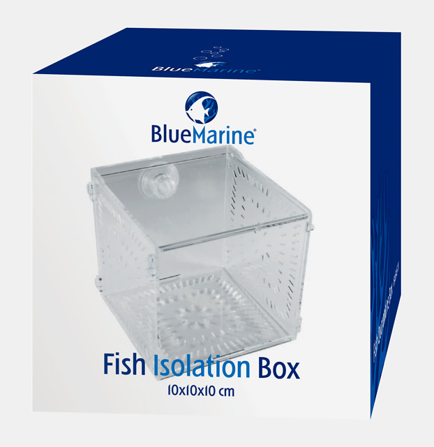 BLUE MARINE FISH ISOLATION BOX  10 X 10 X 10 CM