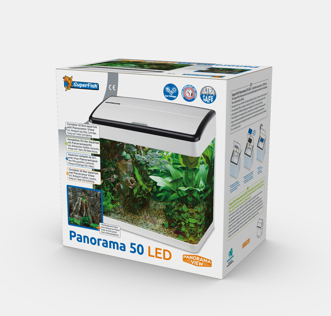 SuperFish Aquarium Panorama 50 LED - Blanc