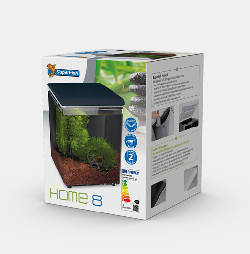 SuperFish Aquarium HOME 8 - Noir