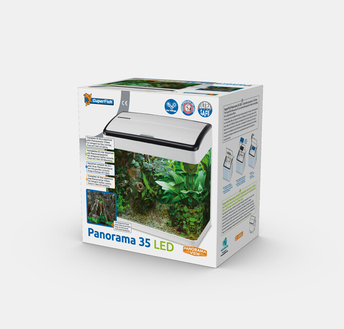 SuperFish Aquarium Panorama 35 LED - Blanc