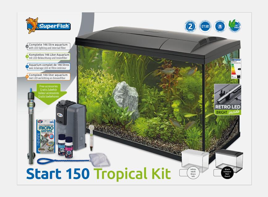 SuperFish Aquarium Start 150 Tropical Kit - Noir