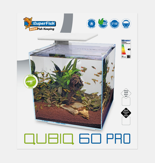 SuperFish Aquarium QUBIQ 60 PRO - Blanc