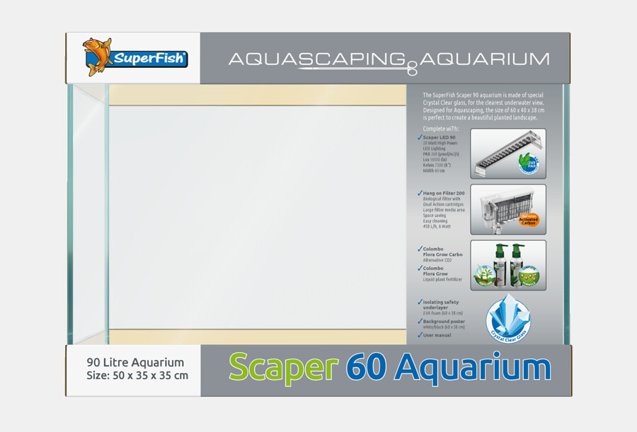 SuperFish Aquarium Scaper 60