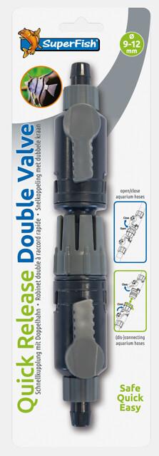 SuperFish Robinet double raccord rapide 9-12mm