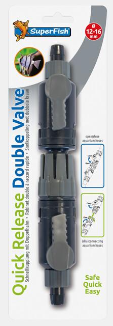 SuperFish Robinet double raccord rapide 12-16mm