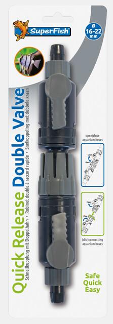 SuperFish Robinet double raccord rapide 16-22mm