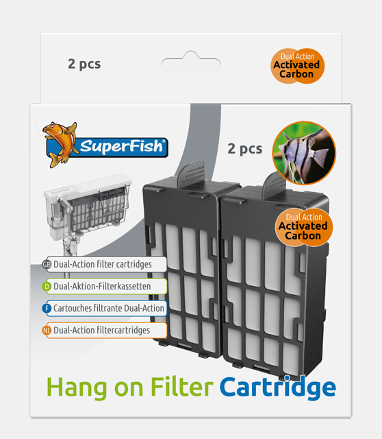 SuperFish Cartouches de filtration Filtre suspendu Hang On 100 et 200