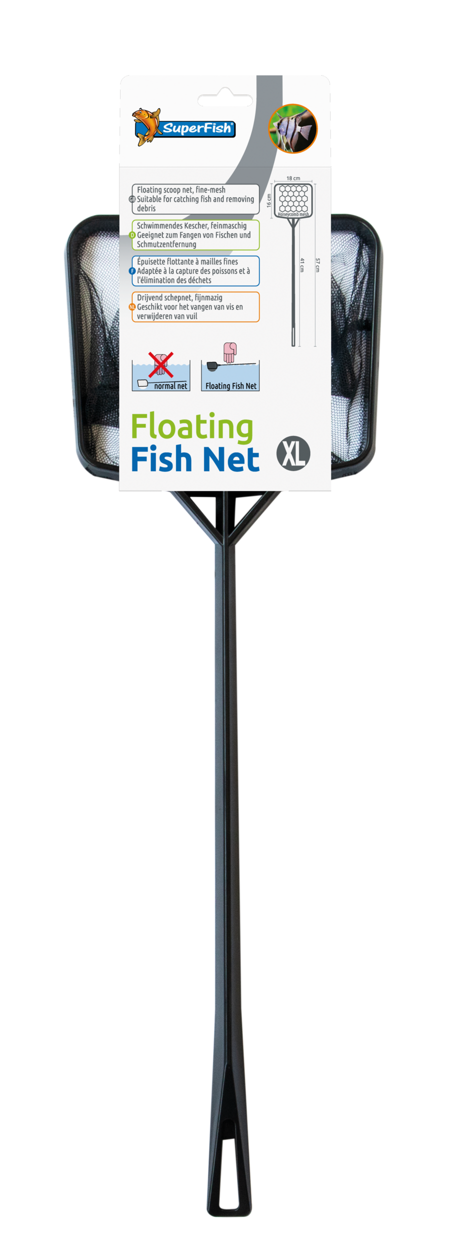 SuperFish Épuisette flottant Floating Fish Net - XL
