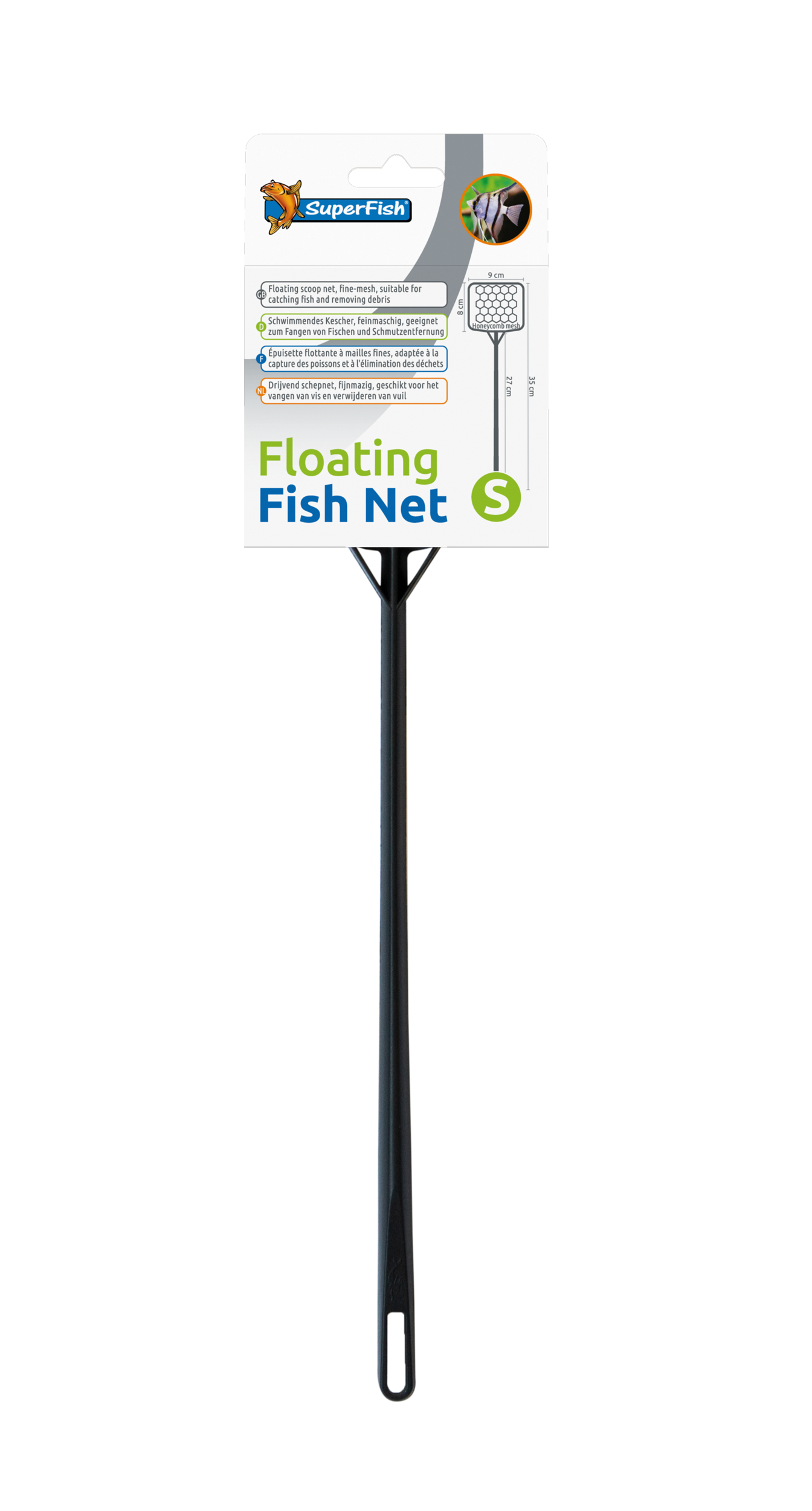SuperFish Épuisette flottant Floating Fish Net - S
