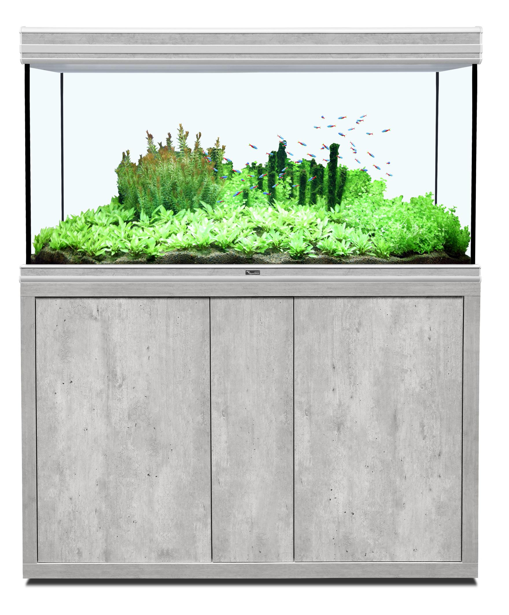 Aquatlantis FUSION 120 x 60 tout équipé Aquarium + Meuble; Couleur - Béton