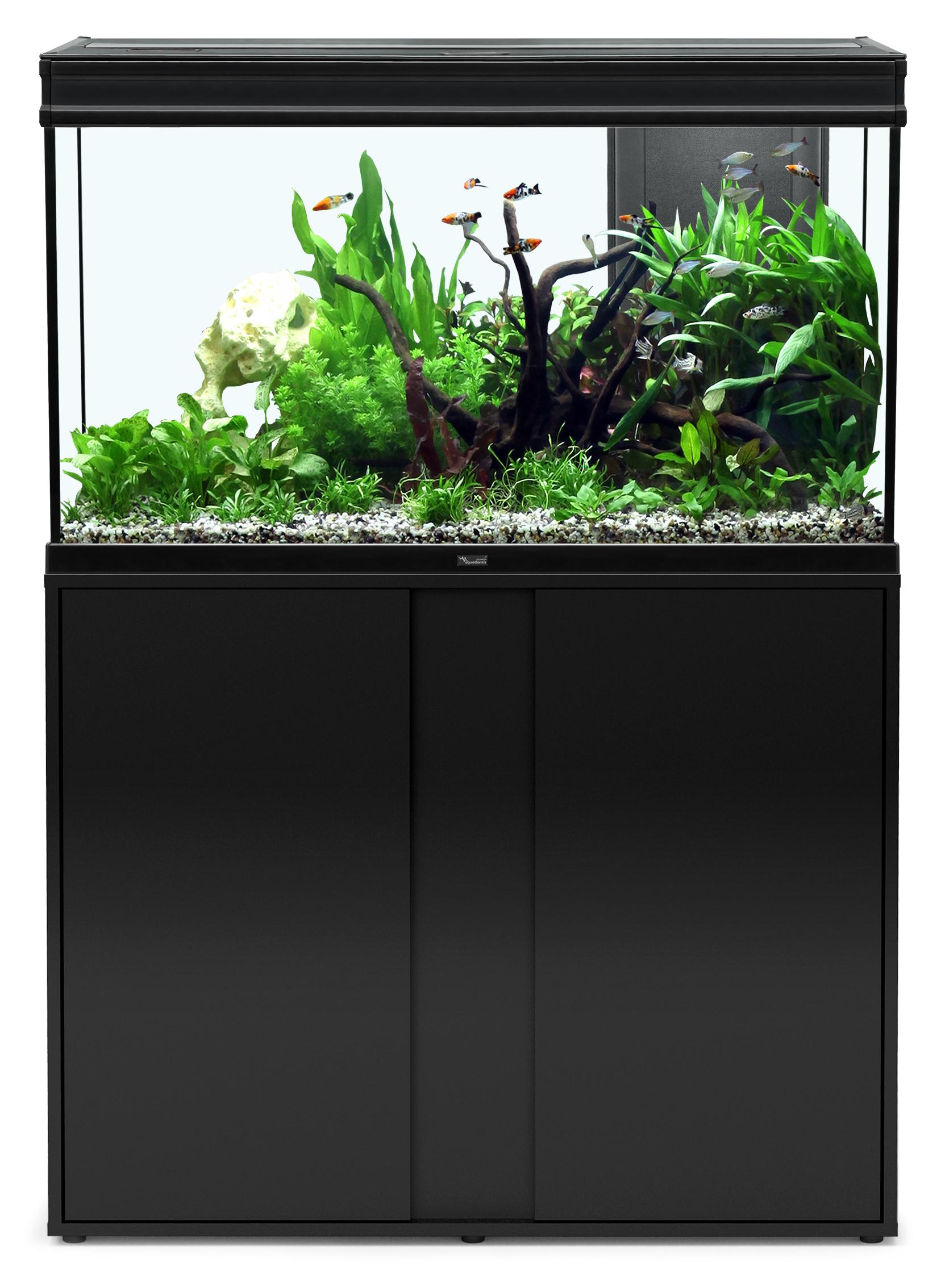 Aquatlantis ELEGANCE EXPERT 100 tout équipé Aquarium + Meuble; Couleur - Noir