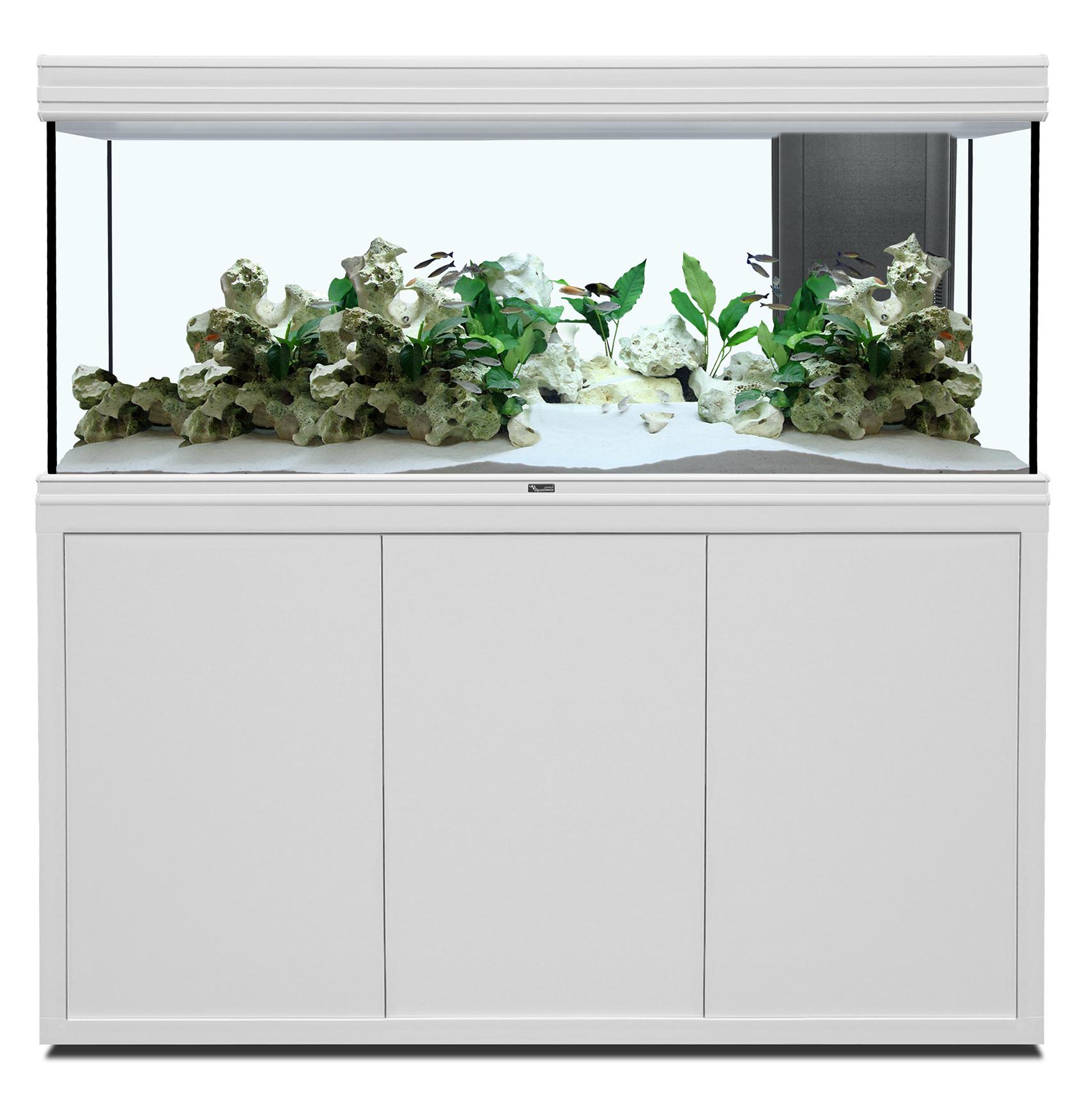Aquatlantis FUSION 150 x 50 tout équipé Aquarium + Meuble; Couleur - Blanc
