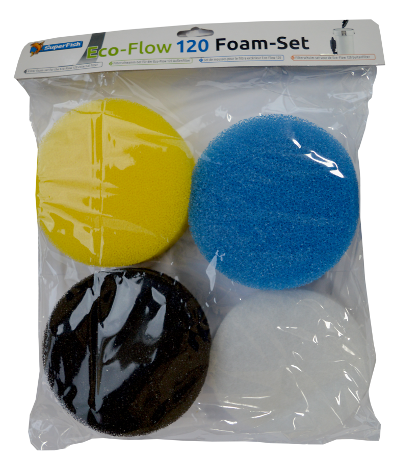 SuperFish Set de mousses de filtre Eco-Flow 120