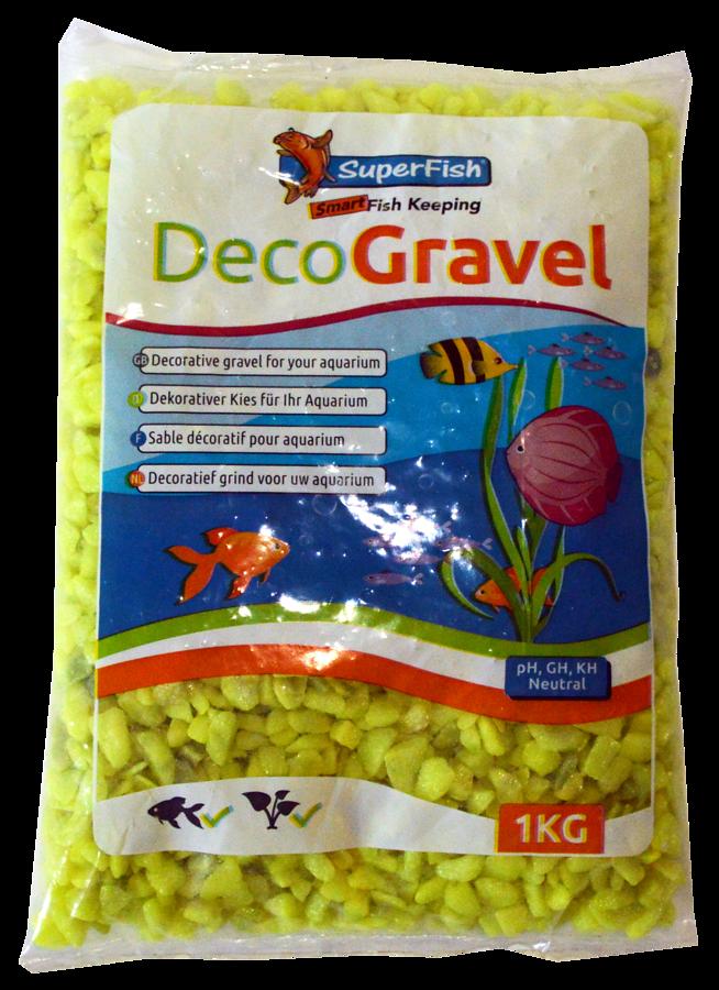 SuperFish  Sable décoratif NEON jaune 1kg