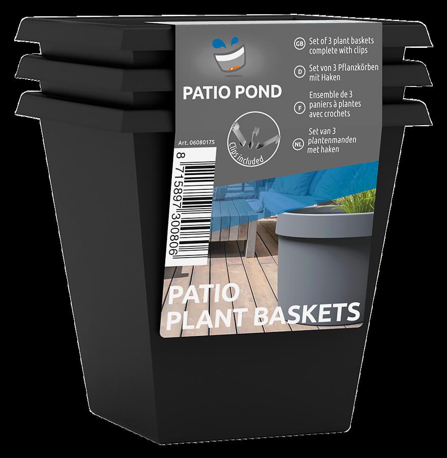 SF PATIO POND PANIER&CROCHET 3PCS