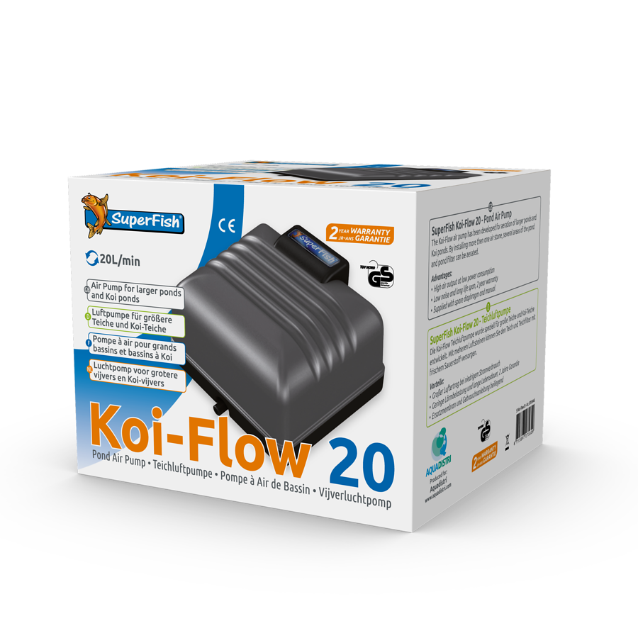 SuperFish Kit pompe à air Koi-Flow 20