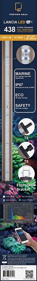 HORIZON LANCIA WIFI LED 438MM-16W