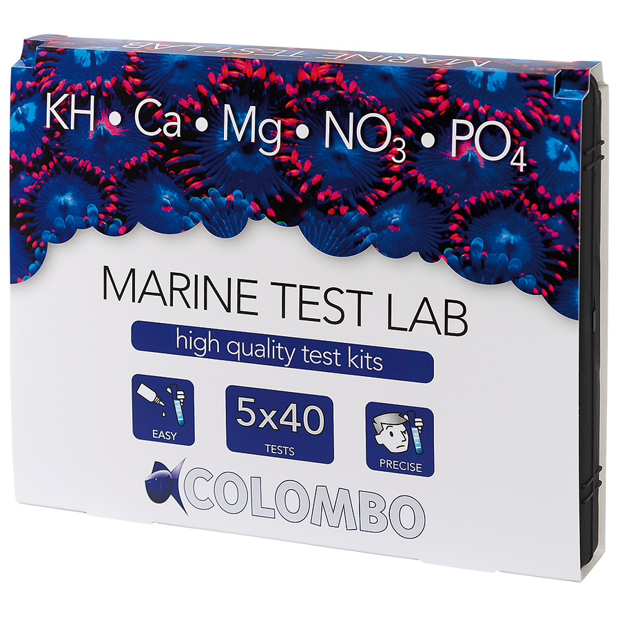 COLOMBO MARINE TEST LAB (KH-CA-MG-NO3-PO4)