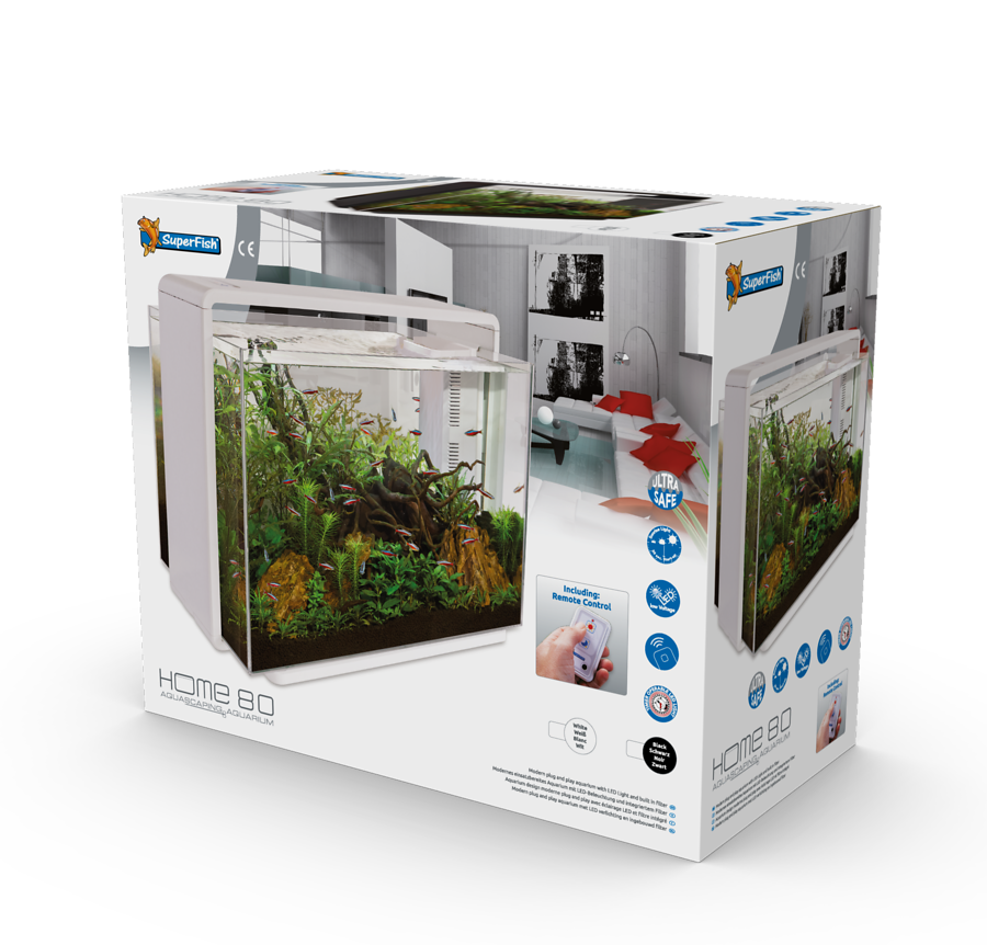 SuperFish Aquarium HOME 80 - Blanc