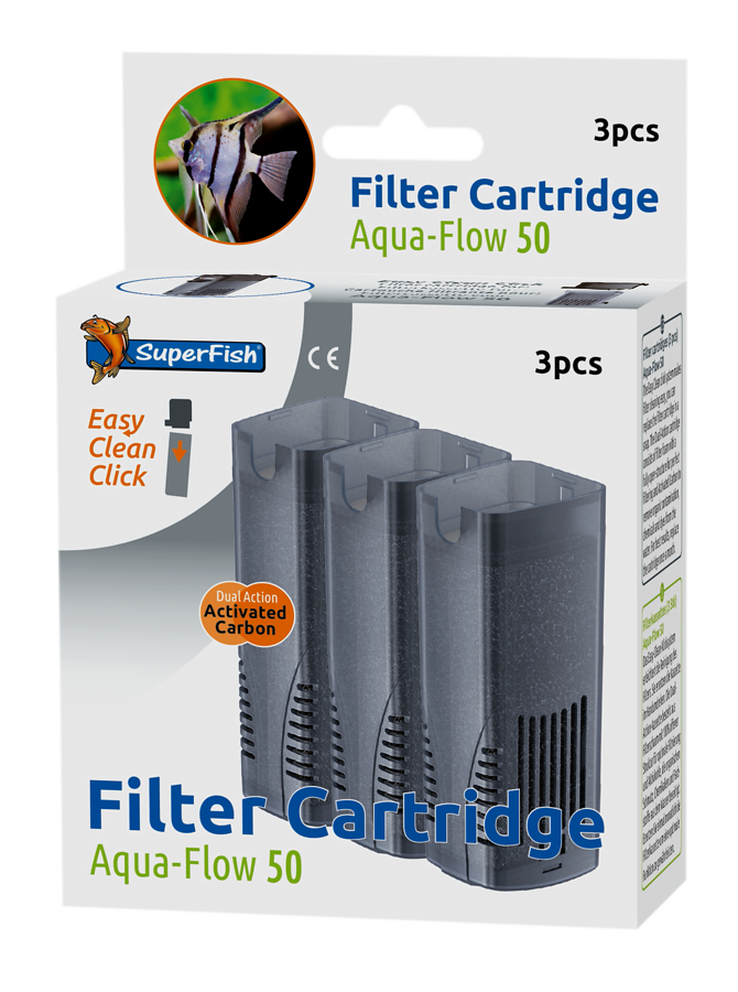 SuperFish Cartouche de filtration Aqua-Flow 50 3pcs.
