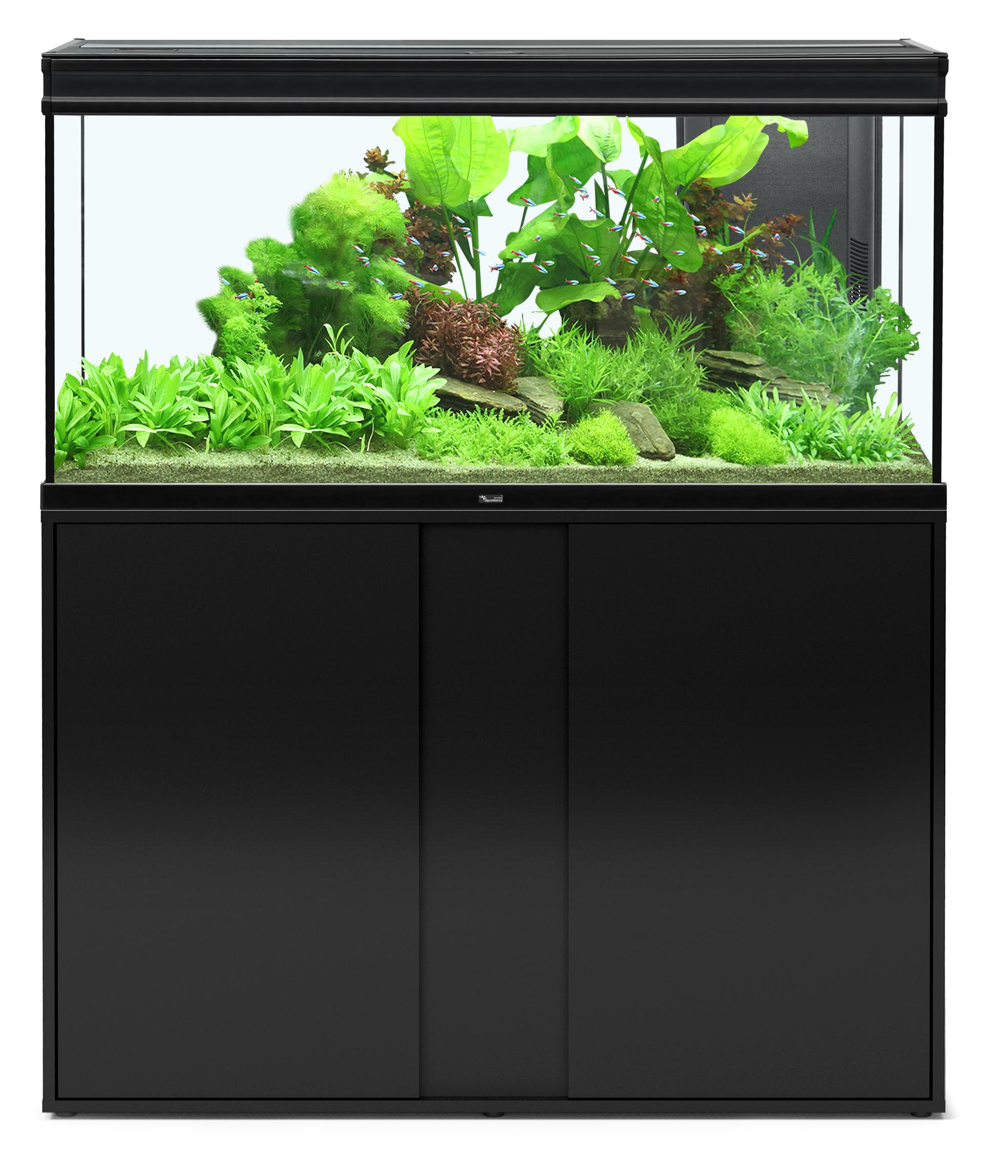 Aquatlantis ELEGANCE EXPERT 120 tout équipé Aquarium + Meuble; Couleur - Noir