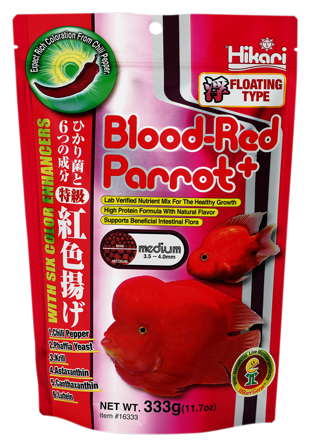 HIKARI BLOOD-RED PARROT PLUS MINI 333 GR